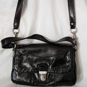 Coach Poppy Black Crossbody Patent Leather